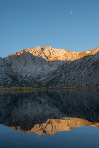 Fall colors in the Eastern Sierra: Convict Lake Sunrise