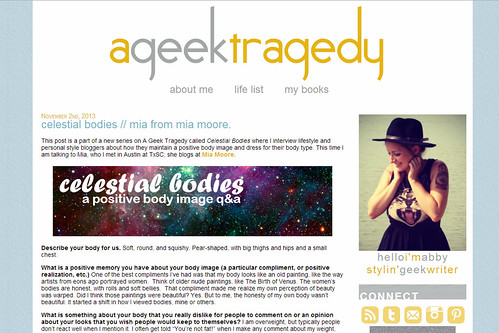 Celestial Bodies | A Geek Tragedy