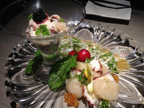 本日のオススメ海鮮3種のカルパミスト@水想