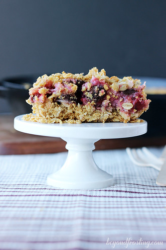 Almond Cherry Coconut Crisp | beyondfrosting.com | #thanksgiving #pie #cherry