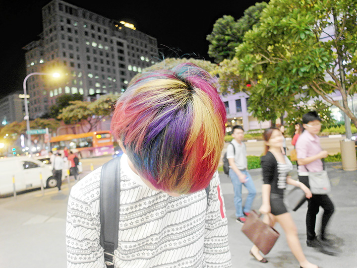 movement rainbow hair