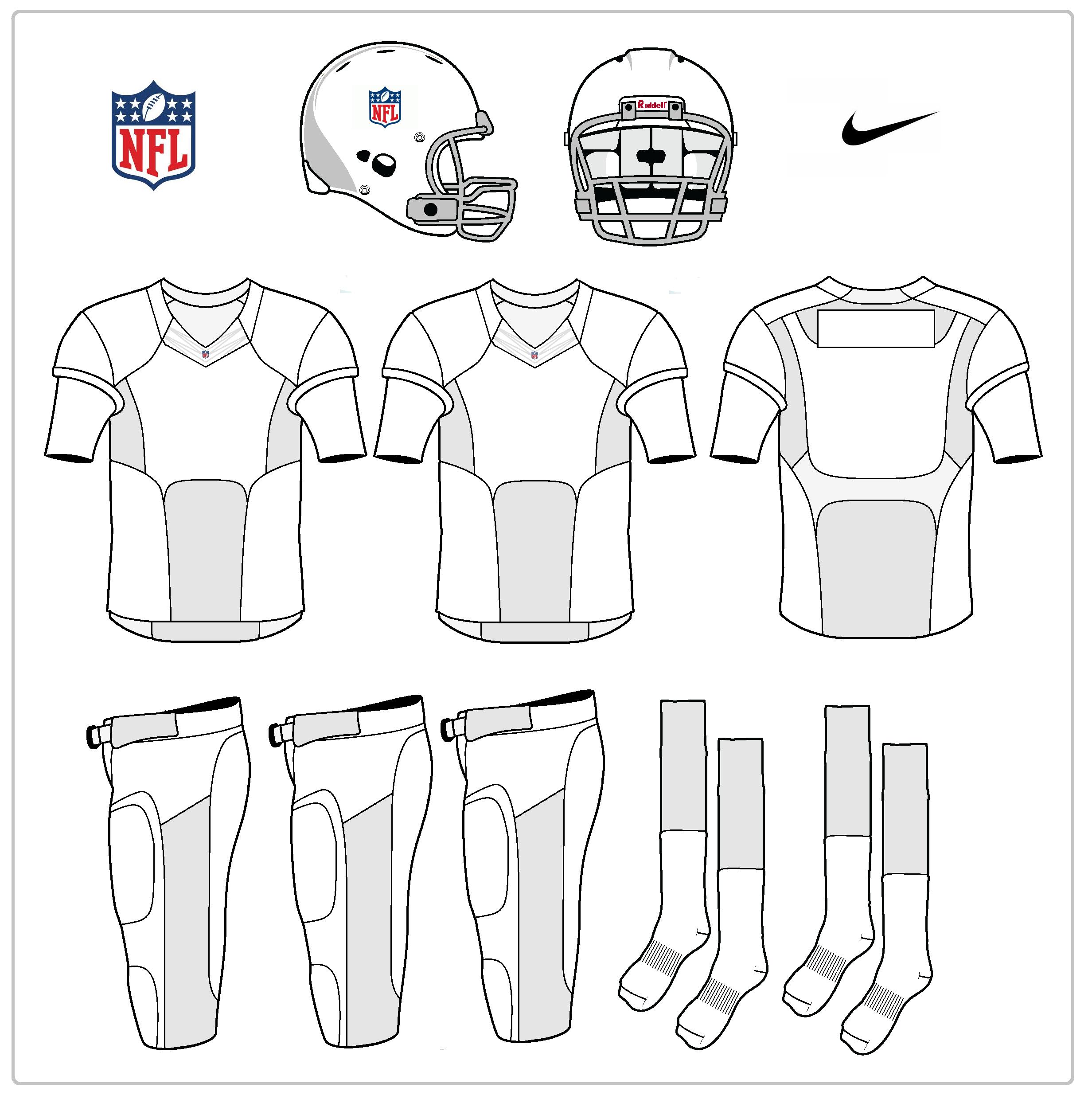 nike uniforms nike nfl uniform template