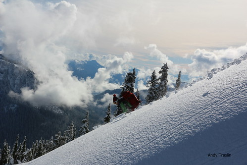 Fade away.... Skier Mike Traslin