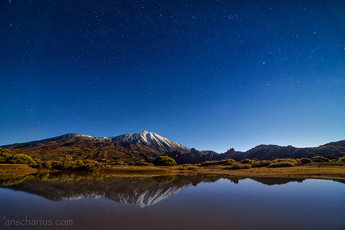El Teide with transient Lake after a huge storm - Nikon D800E & SAMYANG 2,8/14mm