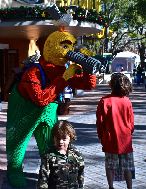 Legoland, Florida - Birdwatcher art