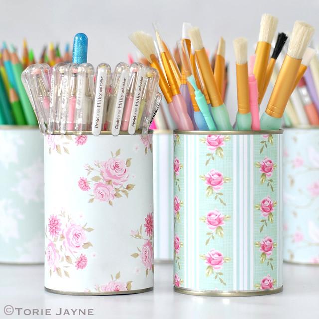 pretty pen pots