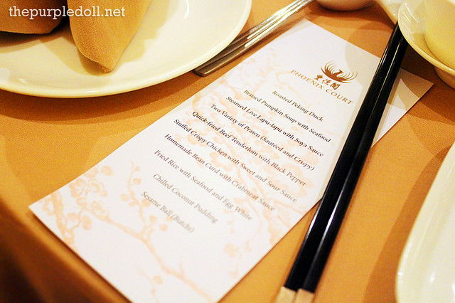Lauriat Dinner at Phoenix Court in Bellevue Manila