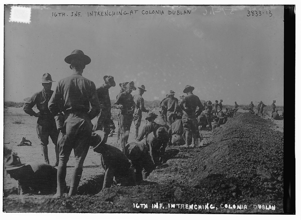 16th Inf. Intrenching at Colonia Dublan (LOC)
