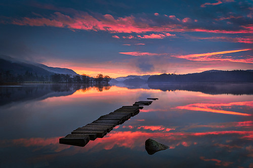 Loch Ard Sunrise by ajnabeee