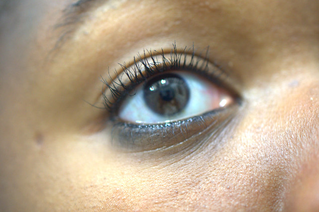 mascara on lashes