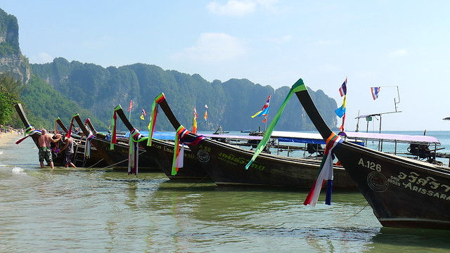 Boats By Ao Nang Beach