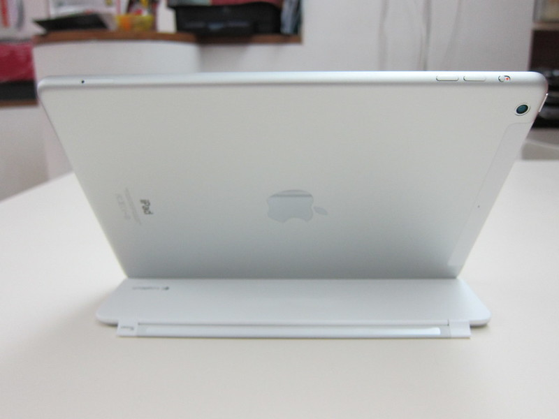 Ultrathin Keyboard Cover - Holding iPad (Back)