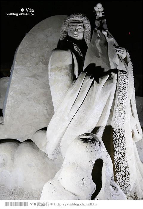 【2014台灣燈會在南投】南投沙雕燈會~夜間點燈好浪漫!還有精彩光雕秀20