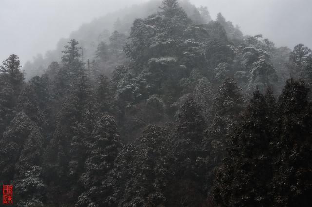 「雪霞之図」 室生龍穴神社 - 奈良