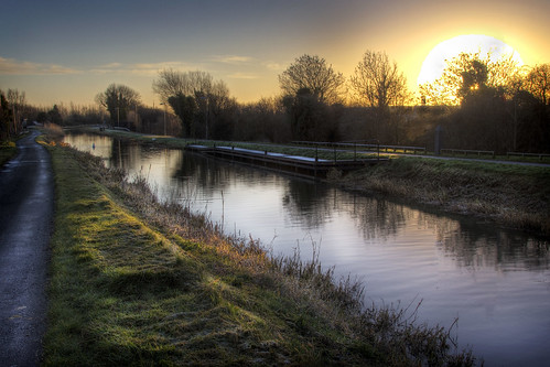 sun canal swan frost rise