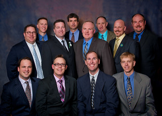 These 12 men started the Dad's Club at Traders Point Christian Academy.