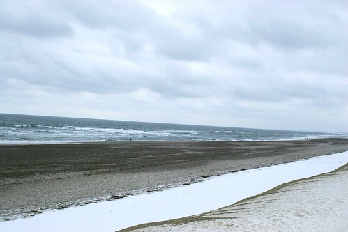 Cape Cod beach in winter