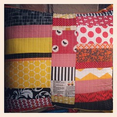 A reading pillow (and books) for my sweet nephew turning 5 today!  Love this technique from Sunday Morning Quilts @crazymomquilts and @cheryl_arkison. Colors at the birthday boy's request. @keelysteger