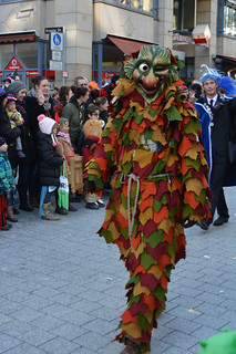Fastnacht witch or autumn tree