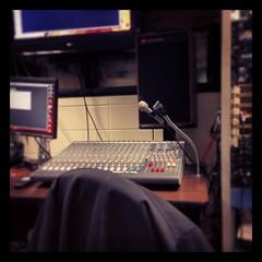 Sound studio at school. Fun in class