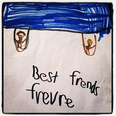 """Best #Friends Forever"" - 6 year old #art (given to my son by a friend) #picoftheday"