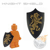 Knight Shield - Black with Lionjpg