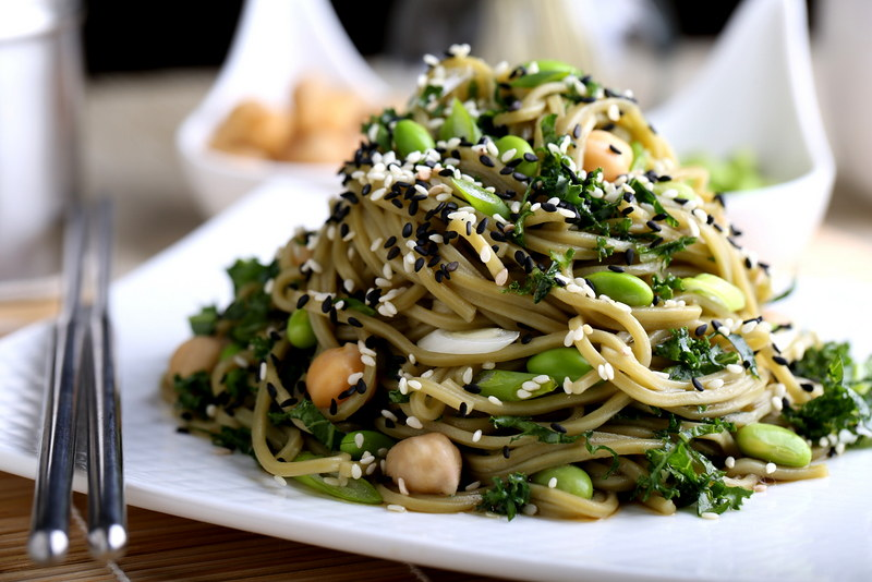 Springtime Green Tea Noodle Salad