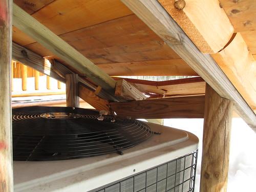 Broken Heat Pump Cover 2