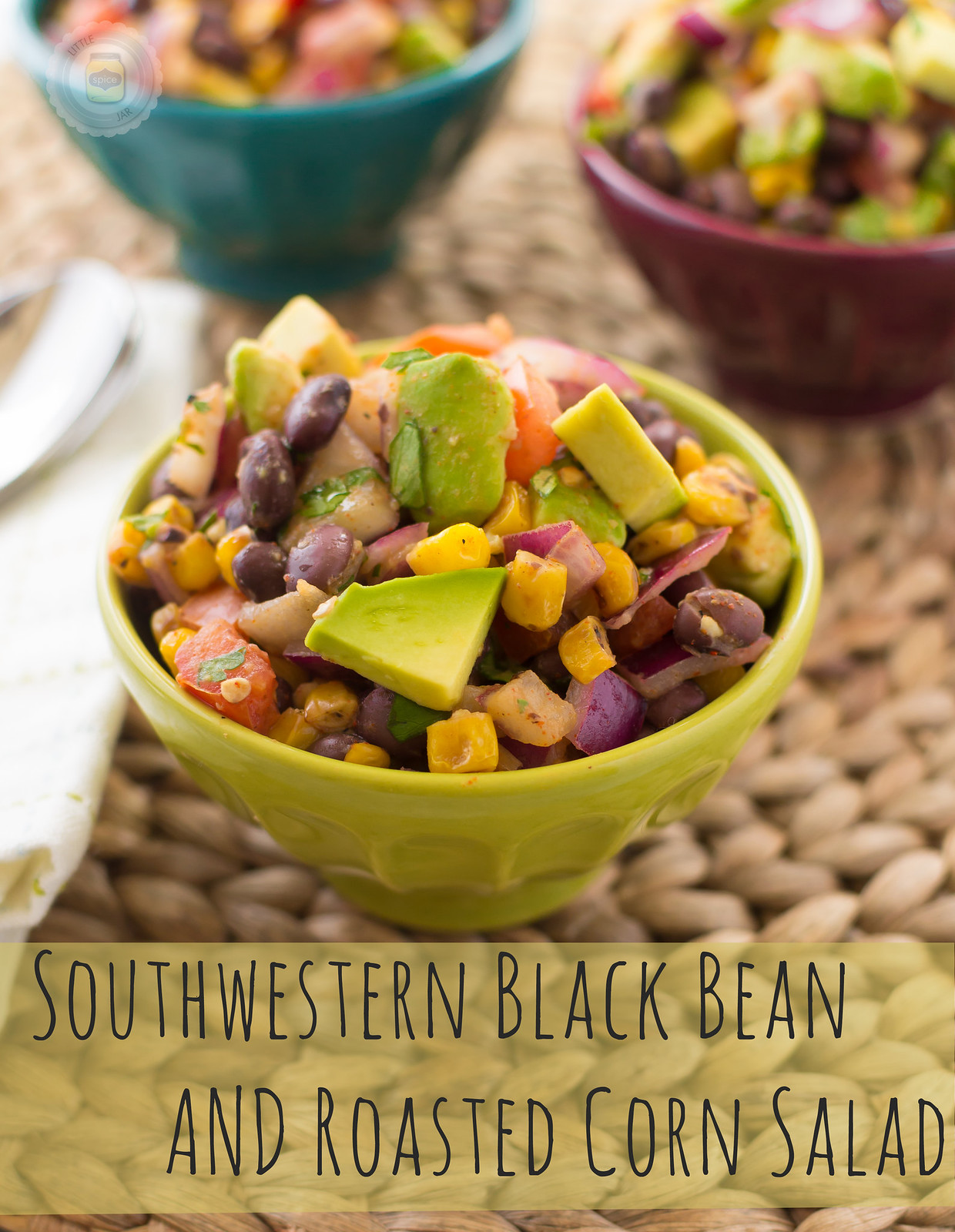 Southwestern Black Bean and Roasted Corn Salad text