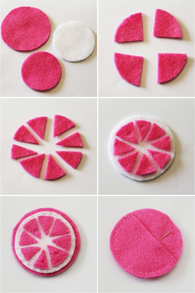 diy felt needle case step by step