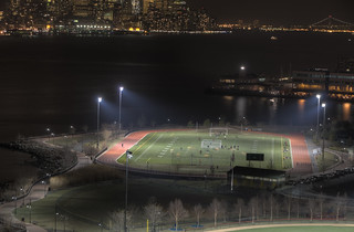 Soccer field on the Hudson River