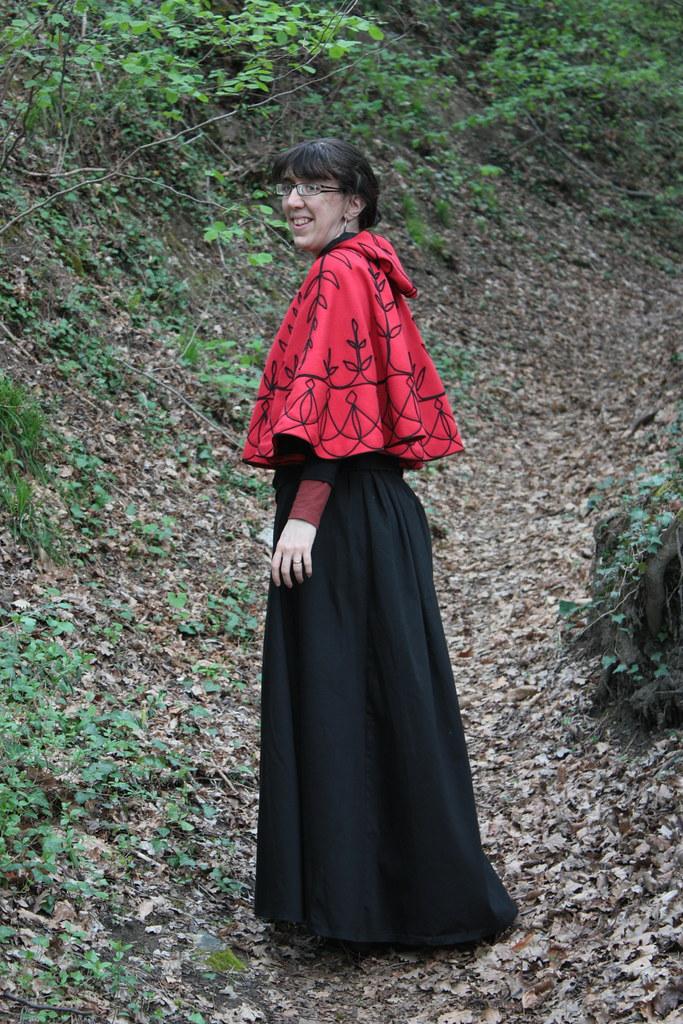 Costume historique, collet et jupe Belle Epoque