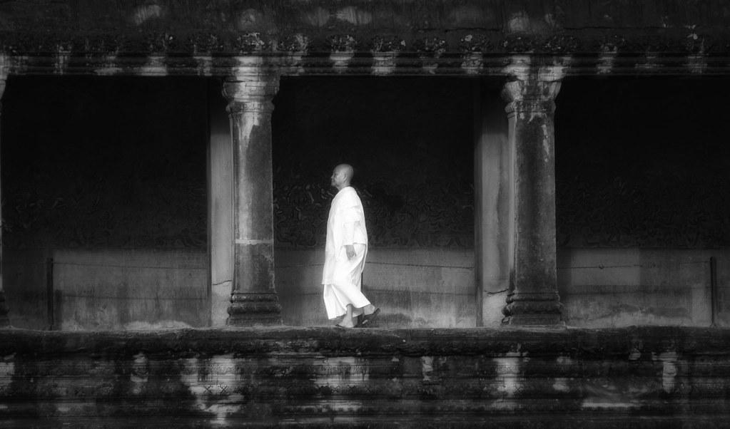 An Ethereal Cambodian Buddhist Nun