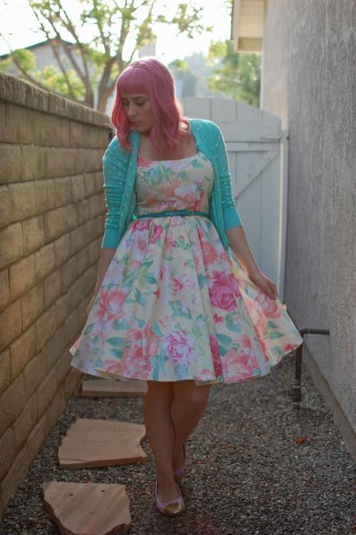 vintage floral dress 13