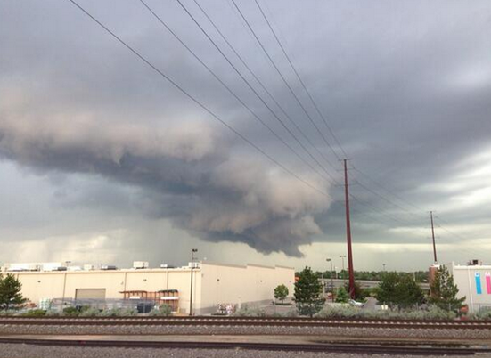 Tornado warned storm, Denver