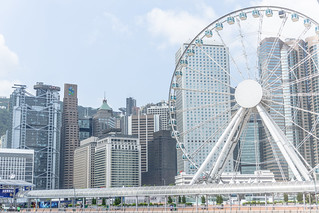 תמונה של The Hong Kong Observation Wheel. travel hk hongkong ferriswheel 香港 摩天輪 中環 centralstarferrypier thehongkongobservationwheel 香港摩天輪 香港摩天轮