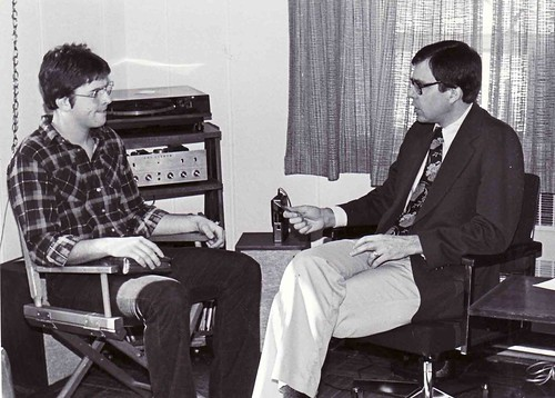 1982 Jay w student in office