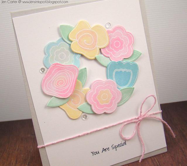 Jen Carter Paper Sweetiesn Flower Wreath Closeup 1.1
