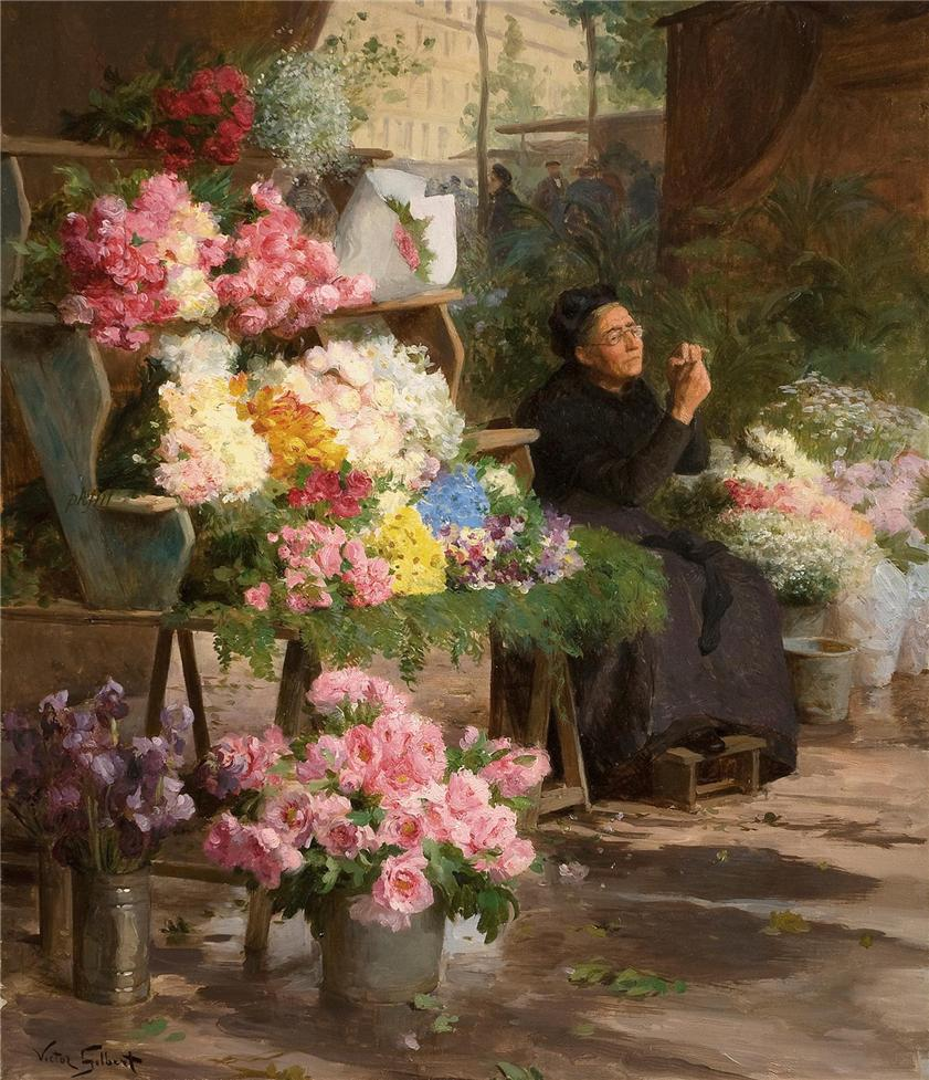 Flower Seller by Victor Gabriel Gilbert