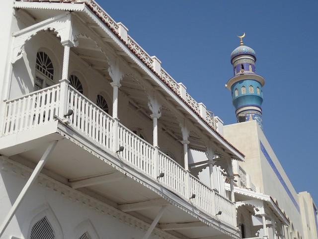 Casas no centro histórico de Muscat