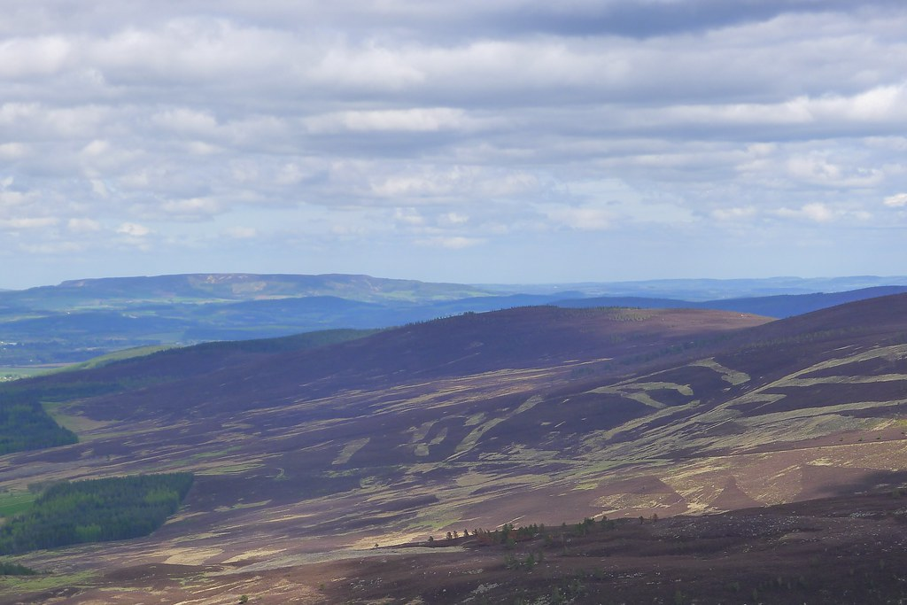 Hill of Fare and distant Aberdeen