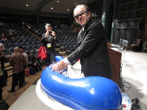 Steve Mann plays the Hydraulophone at AWE '13