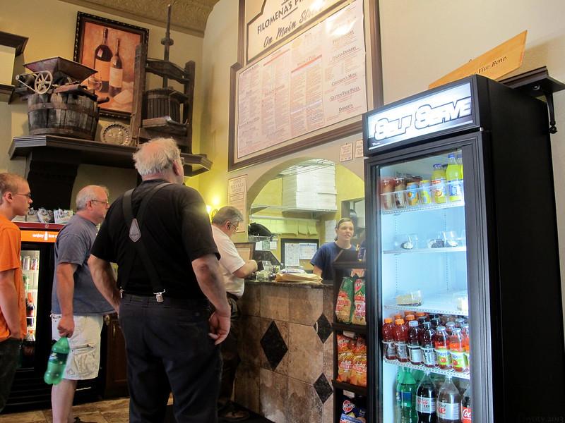Filomena's order counter