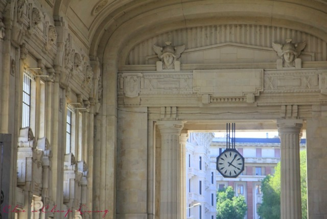 Milan Centrale clock  detail by Chic n Cheap Living