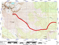Mt. Meeker Ridge Route