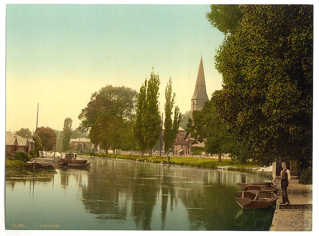 [Thorpe, church and river, Norwich, England]  (LOC)