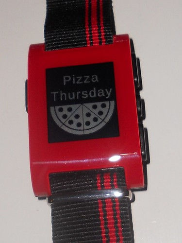 Pebble Pizza Thursday watchface