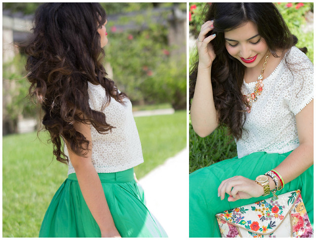 Mermaid skirt and curls
