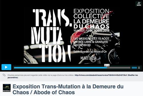 """La Demeure du Chaos présente """"Trans-Mutation"""" jusqu'au 13 octobre 2013 9348238057_ce0c462230"""