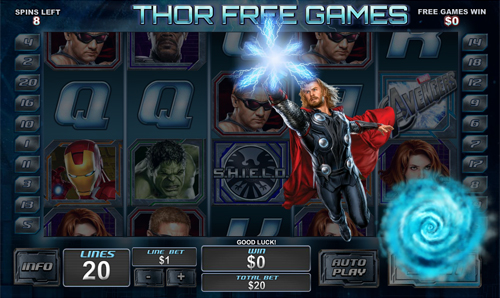 free The Avengers free spins feature